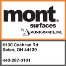 Mont Granite. Address 6130 Cochran Rd Solon OH 44139 phone number 440-287-0101