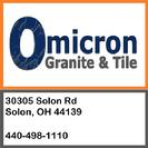omicron granite and tile address 30305 solon rd solon OH 44139 phone number 440-498-1110